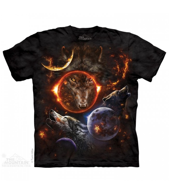 Cosmic Wolves - Animal T Shirt The Mountain