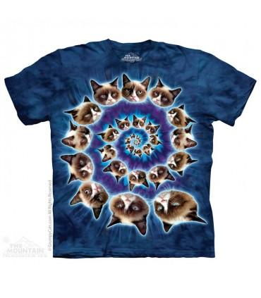 Grumpy Spiral - Cat T Shirt The Mountain