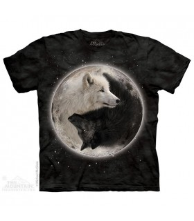Yin Yang Wolves - Animal T Shirt The Mountain