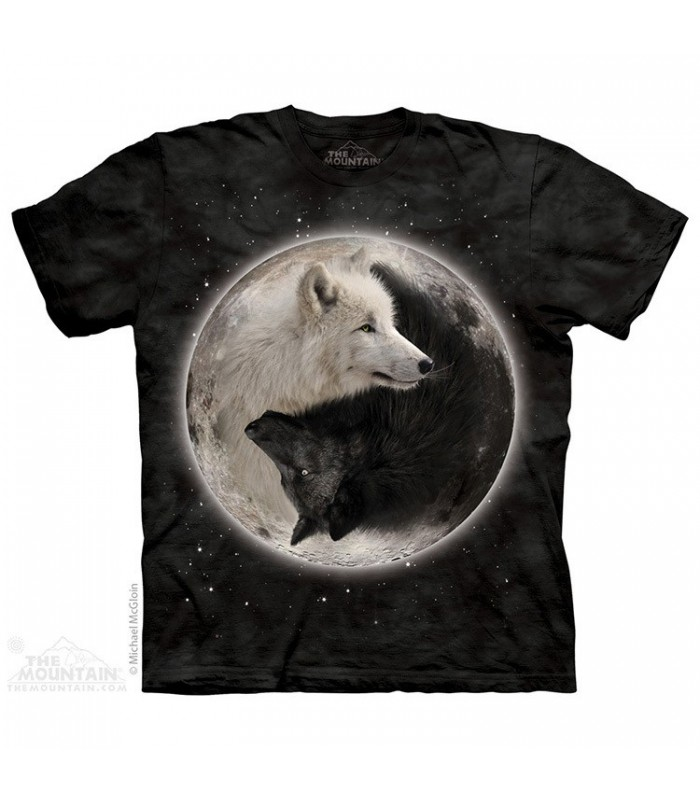 Yin Yang Wolves - Animal T Shirt The Mountain