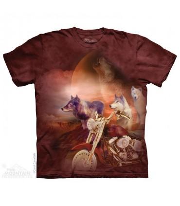 Les Loups et la Moto - T-shirt Loups The Mountain