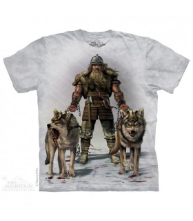 Viking en Chasse - T-shirt Loup The Mountain