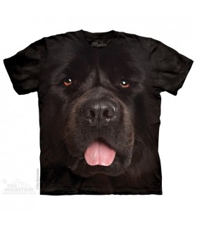 Big Face Newfie - Dog T Shirt The Mountain