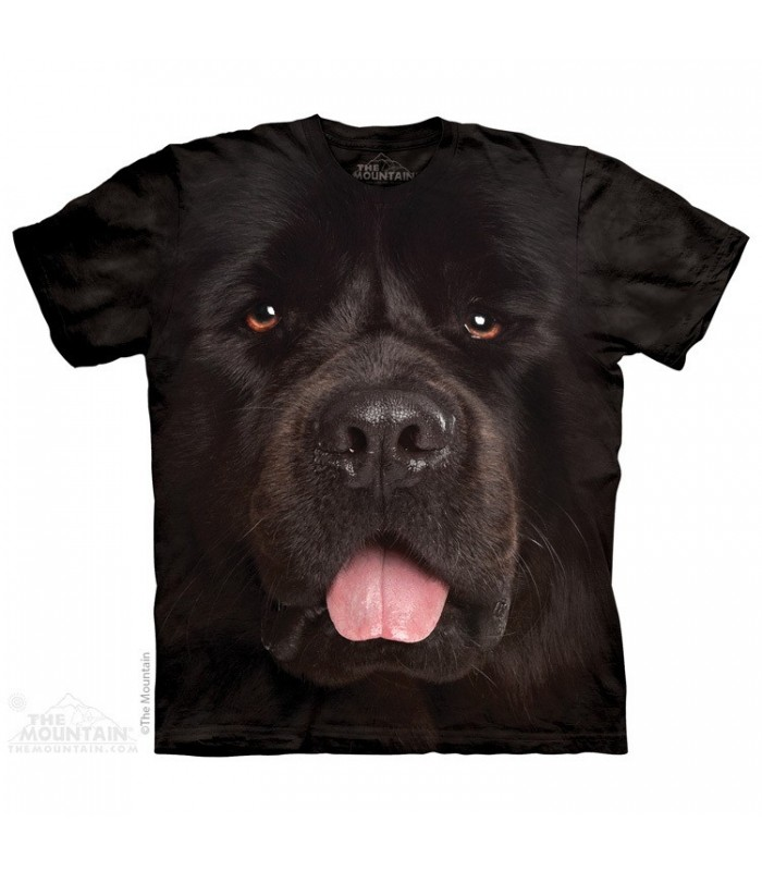 Big Face Newfie - Dog T Shirt The Mountain