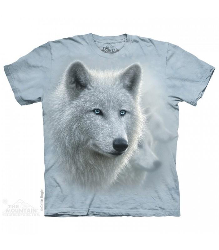 T-shirt Loup Blanc The Mountain