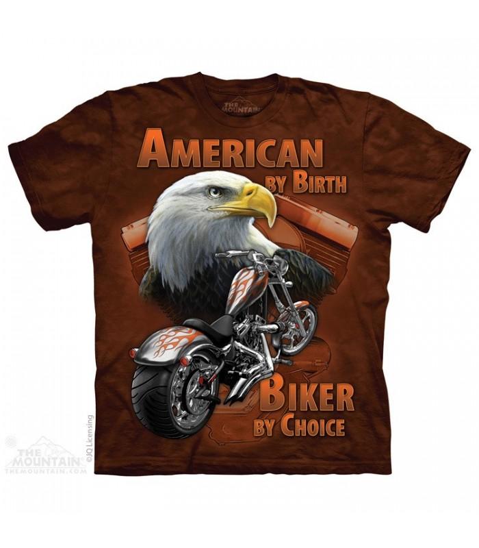 American By Birth - Biker T Shirt The Mountain