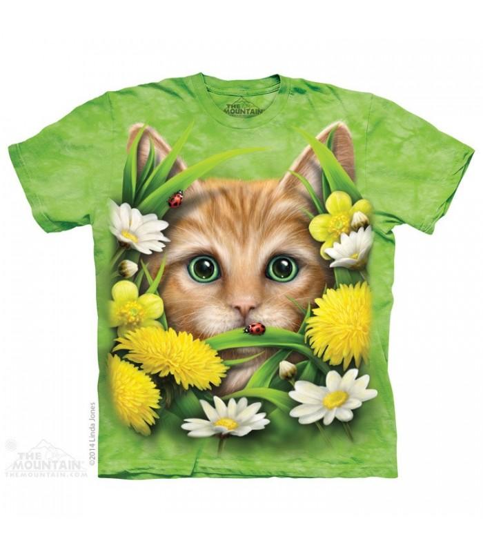 Kitten In Springtime - Cat T Shirt The Mountain