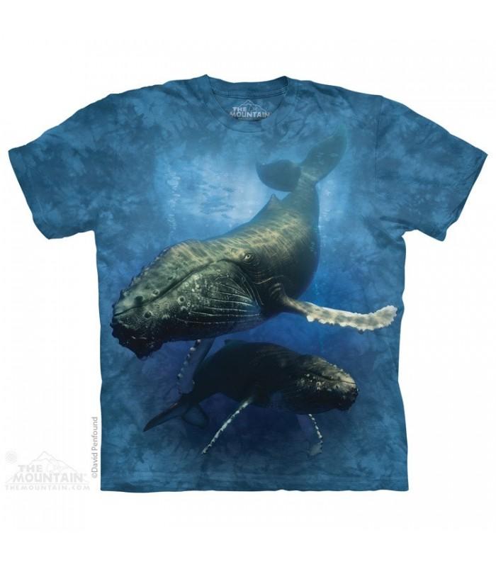 Blue Whale - Aquatic T Shirt The Mountain