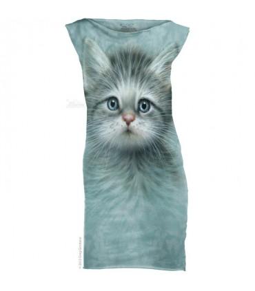 Blue Eyed Kitten - Womens Mini Dress The Mountain