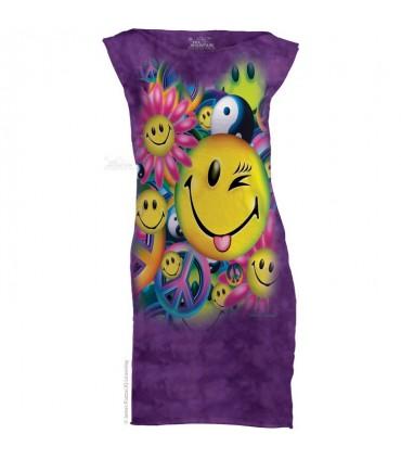 Peace & Happiness - Womens Mini Dress The Mountain