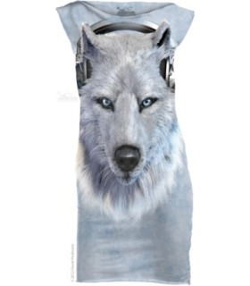 White Wolf DJ - Womens Mini Dress The Mountain