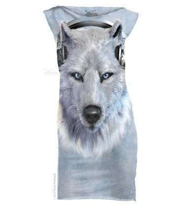 White Wolf DJ - Womens Mini Dress The Mountain