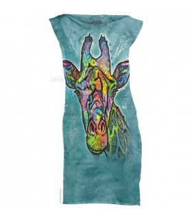 Russo Giraffe - Womens Mini Dress The Mountain