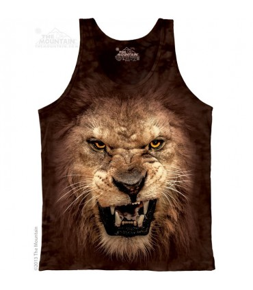 Big Face Roaring Lion - Tank Top The Mountain