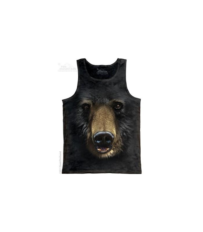 Black Bear Face - Tank Top The Mountain