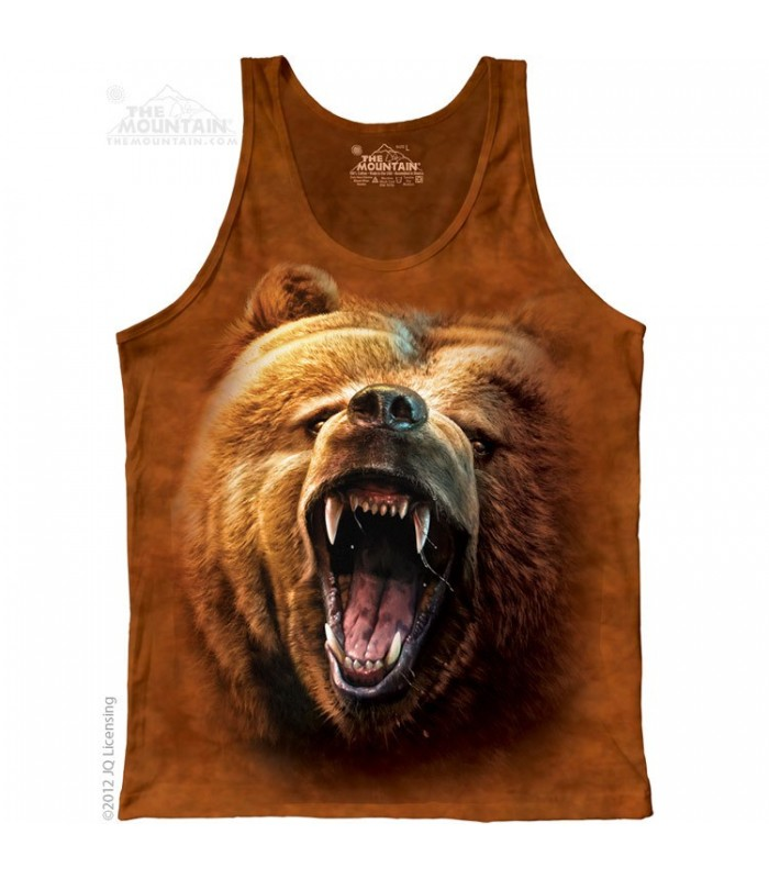 Grizzly Growl - Tank Top The Mountain