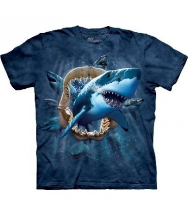 T-Shirt Attaque du Requin par The Mountain