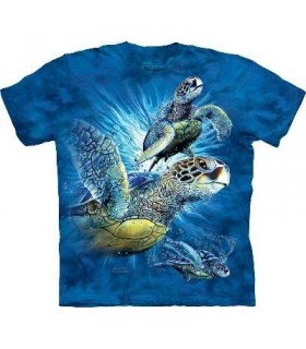 Find 9 Sea Turtles - Aquatics T Shirt by the Mountain