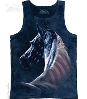 Patriotic Horse - Tank Top The Mountain