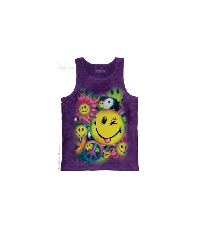 Peace & Happiness - Tank Top The Mountain