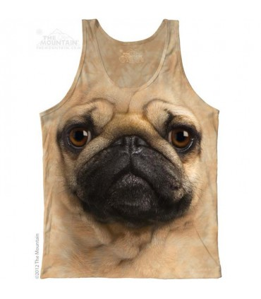Pug Face - Tank Top The Mountain