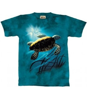 Green Sea Turtle - Zoo Animals T Shirt by the Mountain