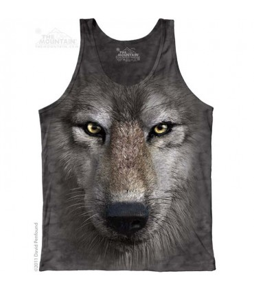 Wolf Face - Tank Top The Mountain
