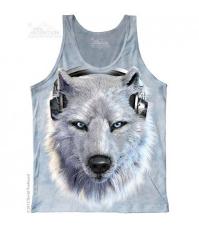 White Wolf DJ - Tank Top The Mountain