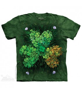 Shamrock Field - Irish T Shirt The Mountain