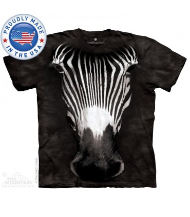 Big Face Grevy's Zebra - Animal T Shirt the Mountain
