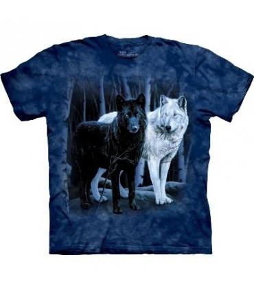 T-Shirt Loups noir et blanc par The Mountain