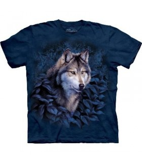 Blue Foliage Wolf - Zoo Animals T Shirt by the Mountain