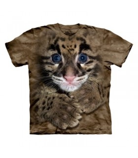 Clouded Leopard Cub Kids T-Shirt