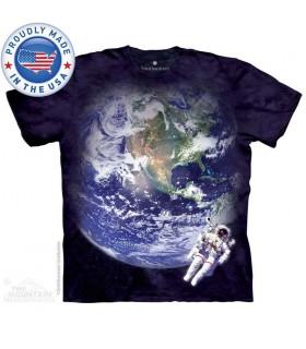 Terre et Astronaute - T-shirt Espace The Mountain