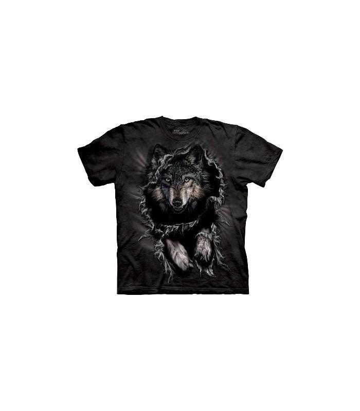T-Shirt Loup Déchirant par The Mountain