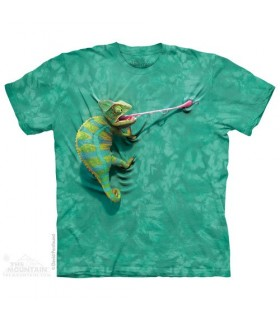 Climbing Chamelion - Reptile T Shirt The Mountain
