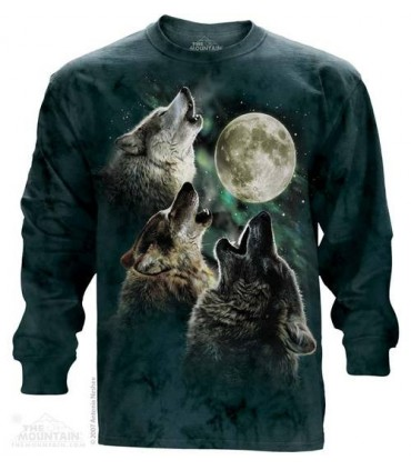 Three Wolf Moon - Long Sleeve T Shirt The Mountain