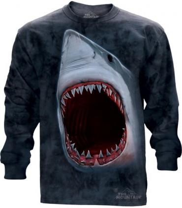 Shark Bite - Long Sleeve T Shirt The Mountain