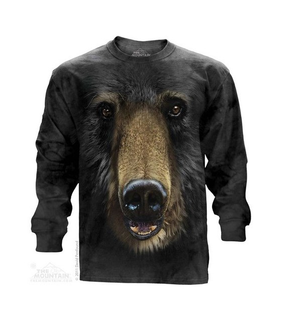 08e5adc1 Black Bear Face Animals T Shirt Adult Unisex The Mountain Clothes, Shoes &  Accessories