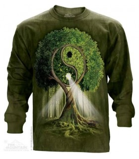 Yin Yang Tree - Long Sleeve T Shirt The Mountain