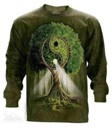 Yin Yang Tree - Long Sleeve T Shirt The Mountain