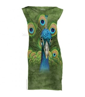 Vibrant Peacock - Womens Mini Dress The Mountain