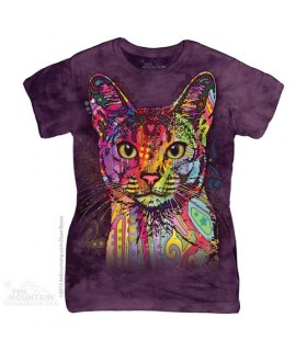 T-shirt Femme Chat Abyssin The Mountain