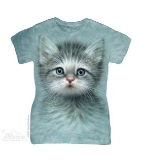 Blue Eyed Kitten Women's T-Shirt The Mountain