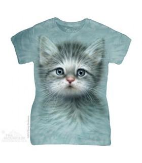 T-Shirt Femme Chaton aux Yeux Bleus The Mountain