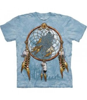 Dream Wolf - Native America T Shirt by the Mountain