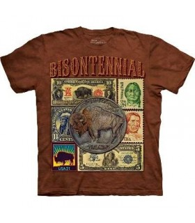 Bisontennial - Native American T Shirt by the Mountain