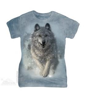 T-shirt Femme Loup Blanc The Mountain