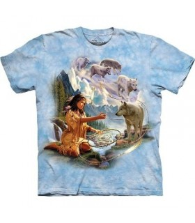 Dreams of Wolf Spirit - Indians Shirt