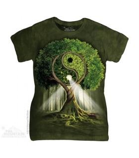 Arbre Yin Yang - T-shirt Femme The Mountain